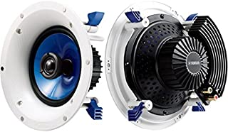 """NSIC800 YAMAHA 8"""" 140W Ceiling Speakers(Pair) 1"""" Swivel Tweeter Yamaha NS-IC800 Sealed Back Cover to Protect from Dust and Moisture, Paintable Magnetic Grills"""