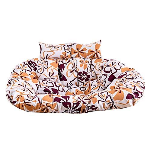 YYEWA Cojín de Doble Columpio Swing Loveseat Hanged Hammock Pad Soporte de la Almohadilla de Hamaca de 2 Asiento Removible de poliéster Cojín de Lona Multi-Colors,B,110 * 150cm