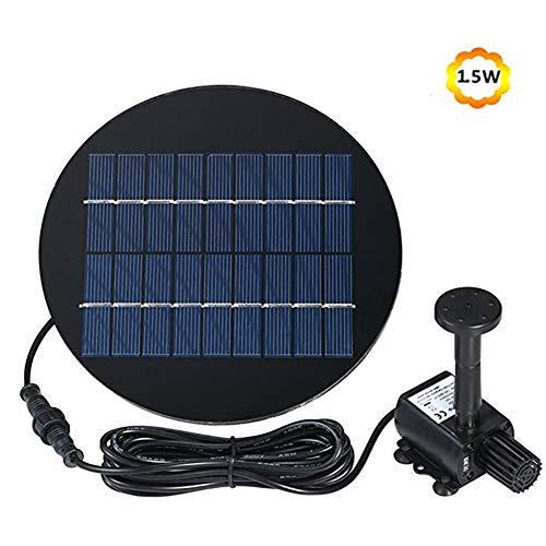 GPFDM fontein op zonne-energie voor de badkamer, 1,5 W, zonnepaneel, watereigenschappen met palen 9,84 Ft, kabel voor de tuin, op zonne-energie, voor vijver, zwembad, gazon