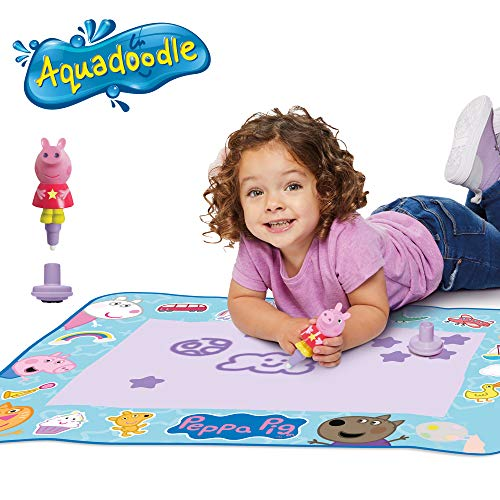 AquaDoodle T72034 Doodle, Official Tomy No Mess Colouring & Drawing Game Kids' Colouring Pens & Markers, Peppa Pig Water Drawing Mats, Norme