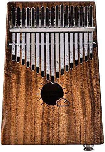 CRTTRC Stylish 17 Keys Eq Kalimba 17 Keys Eq Kalimba Solid Acacia Thumb Piano Link Speaker Electric Pickup With Bag Cable Calimba Mbira Keyboard Instrument-1