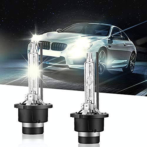 Carrep D2S/D2C 66240 Xenon HID Headlight Bulb 35W Replace for Philips or OSRAM Bulbs (6000K Crystal White)