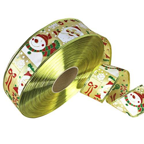 Mouci 5cm Width 2m Length Christmas Decorative Ribbons Satin Ribbon Craft Ribbons