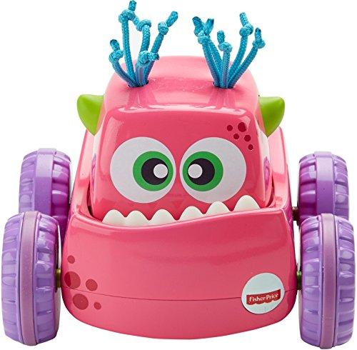Fisher-Price DRG14 Monster Truck Push and Go Grobmotorik Spielzeug in pink, ab 9 Monaten
