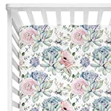 Sahaler Succulents Baby Crib Sheets for Boy Girl, Watercolor Cactus Fitted Crib Bed Mattress Sheets, Boho Baby Gift, Nursery Bedding fits Standard Crib Mattress 28x52' (Pastel Succulents)
