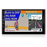 JOYX PX6 Android 10 Autoradio Estereo -【Built-in DSP】- 【4G+64G】- Libre Cámara - GPS 2 DIN - 7 Pulgada - Apoyo HDMI Mandos de Volante Bluetooth5.0 WLAN 4K-Video Dab 4G CarPlay Android Auto AHD-Cámara