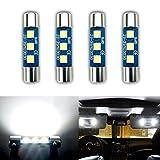 iBrightstar Newest 9-30V Extremely Bright 29mm 6614F 6612F LED Bulbs for Car Sun Interior Vanity Mirror Sun Visor Lights, Xenon White