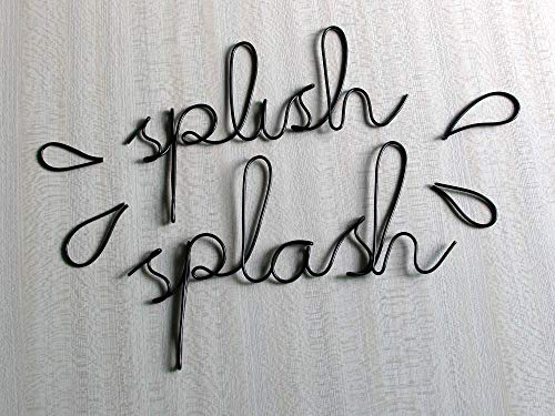 Bathroom Decor Splish Splash Sign Black Wall Art Nursery Decor Bath Funny Decor Women Gift