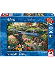 Schmidt - SCH-59636 - Disney Alice in Wonderland, 1000 stukjes Puzzel - vanaf 12 jaar - disney puzzel - van Thomas Kinkade