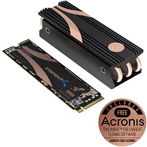 Sabrent SSD Interno 500GB Rocket Nvme PCIe 4.0 M.2 2280 unità di Memoria A Stato Solido con Massime Prestazioni con Dissipatore (SB-ROCKET-NVMe4-HTSK-500)