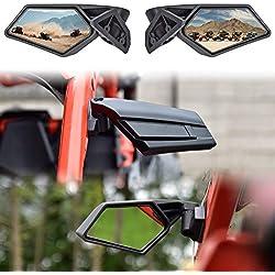 X3 Adjustable Folding Side Mirrors SAUTVS Rear View Racing Mirrors for Can-Am Maverick X3 2017-2021 2PCS, 715002898