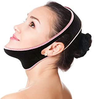 V Line Face Slimming Mask Chin Lifting Belt Sagging Skin Double Chin Reducer Face Lift V Shaped Contour Tightening Strap Reusable Anti-Wrinkle Chin Up Patch (Large)