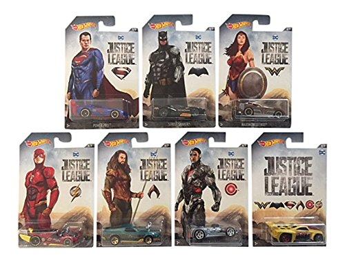 Mattel Hot Wheels DWD02 Limited Car DC Justice League, je 1 Fahrzeug, zufällige Auswahl