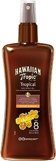Hawaiian Tropic Protective Dry Spray Oil SPF 8 - Aceite Seco Bronceador con Protección Baja, Fragancia de Coco y Guayaba, 200 ml