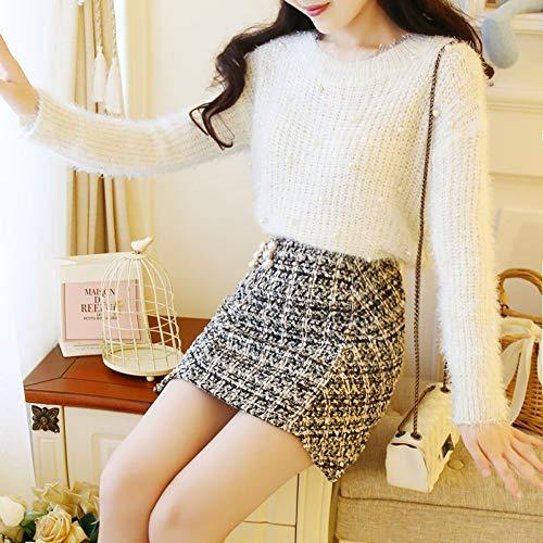 XIAOHU Pullover Beaded Sweater Mohair Woman Winter Plush Cashmere CuteAutumn Plus SizeVelvet Loose Korean Jumper