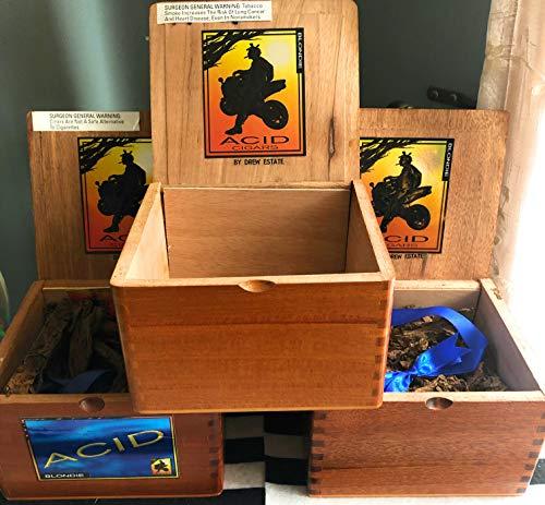 Empty Premium Acid Cigar Box, Hinged Lid by ACID Cigars