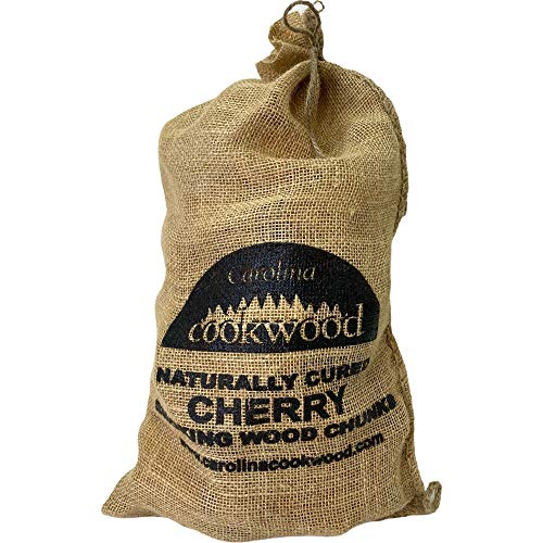 Carolina Cookwood Naturally Cured Cherry Smoking Wood Chunks, 750 Cubic Inches for Outdoor Cooking Grills