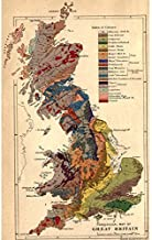 Meishe Art Poster Print Old Map Retro Vintage Great Britain British UK Antique Atlas Chart Office History Home Wall Decor