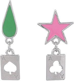 Anime Earrings HUNTER x HUNTER Hisoka Earrings Cosplay Stars Teardrop Poker Earring Stud for Women Men Earring Jewelry Gif...