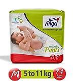 Little Angel Baby Diaper Pants, Medium 74 - Count
