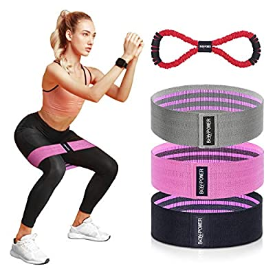 BQYPOWER Resistance Bands for Legs and Butt, Ex...