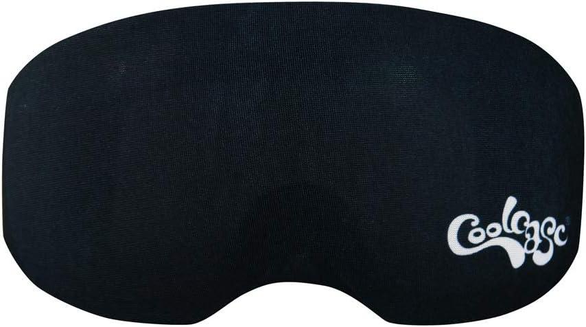 Coolcasc Funda para Gafas de Esqui Color Negro
