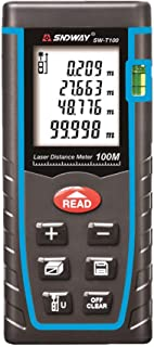 SNDWAY SW-T100 Digital Laser Rangefinder 100M Distance Meter Tape Measure Area Volume