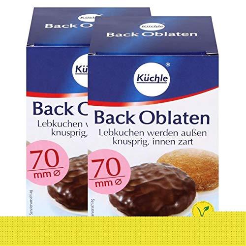 Küchle runde Back Oblaten 70mm Ø 71g - Lebkuchen bleiben innen zart (2er Pack)