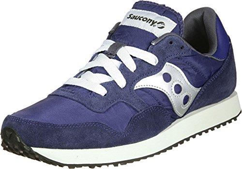 Saucony DXN Trainer Vintage, Sneaker Uomo, Blu (Nvy/SIL 5), 42.5 EU