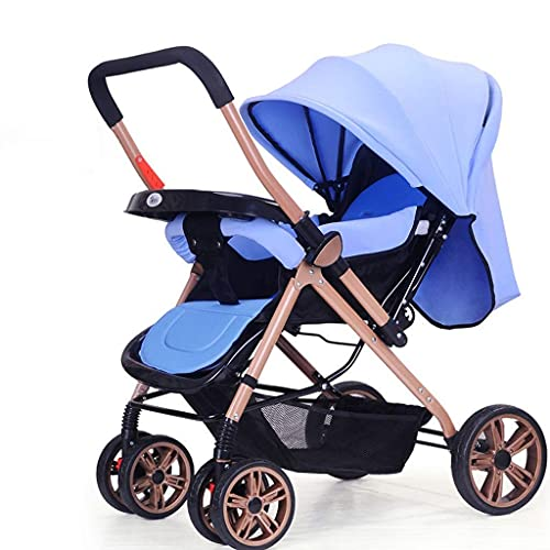 WDCC Passeggino 360 Funzione di Rotazione, Hot Mom Carrozzina Passeggino Carrozzina, Sistema di Viaggio Seggiolino per Neonati (Colore : Blu)