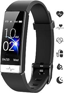 Fitness Tracker, Heart Rate Monitor IP68 Waterproof Activity Tracker HRV Health Watch SPO2 Blood...