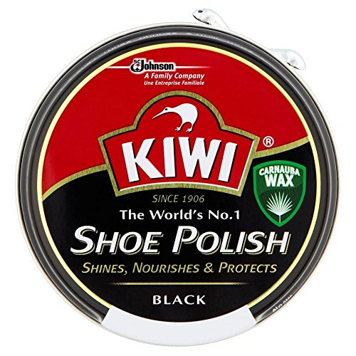 KIWI Kiwi Shoe Polish Black (50 ml) - Packung mit 6