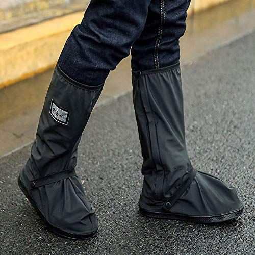 Walker Valentin Chanclos IBHT Exterior de Alto Tubo Impermeable Espesado Snowproof Lluvia Zapatos Tamaño: XL (Negro) Black