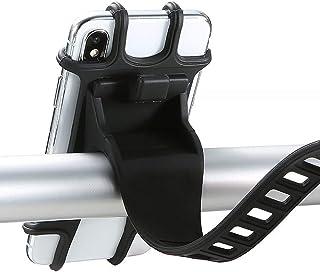 "Bike Phone Holder,360° Rotatable Adjustable Detachable Silicone Phone holder, DELFINO Phone Mount Universal for 4""-6.5"" Sc..."