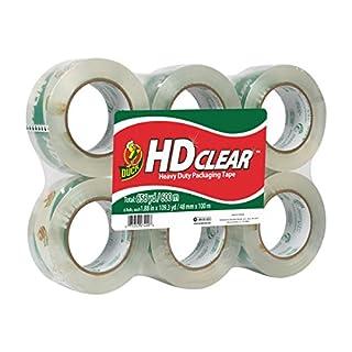 Duck HD Clear Heavy Duty Packing Tape, 1.88 Inch x 109 Yards, 6 Rolls (299016) (B0021L9MVO)   Amazon price tracker / tracking, Amazon price history charts, Amazon price watches, Amazon price drop alerts