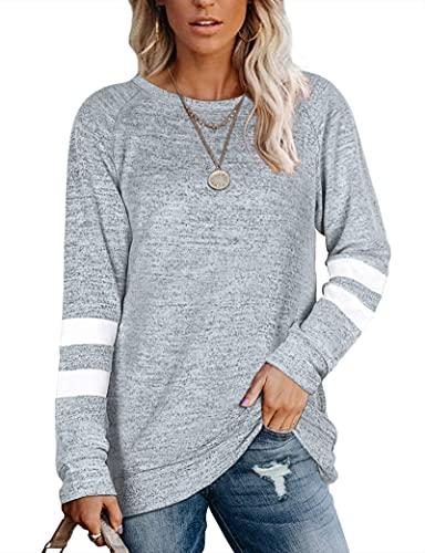 MOLERANI Leichte Pullover für Damen Kuschelige Sweatshirts Langarmshirts für Leggings M