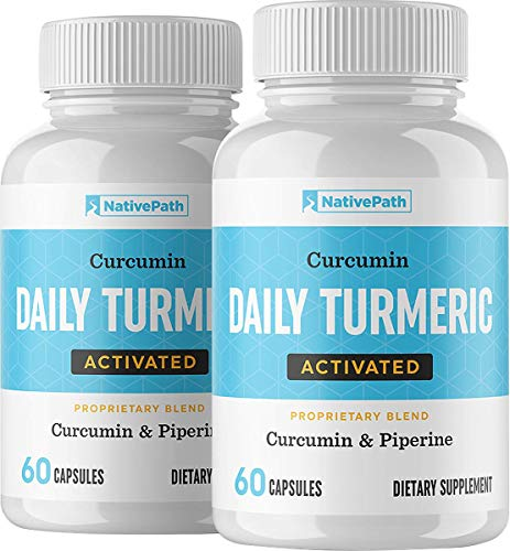 NativePath  Daily Activated Turmeric 60Count  30Day Supply  1200 Mg of Turmeric Per Serving  Curcumin and Piperine for Max Absorption  Up to 2000% More Bioavailable