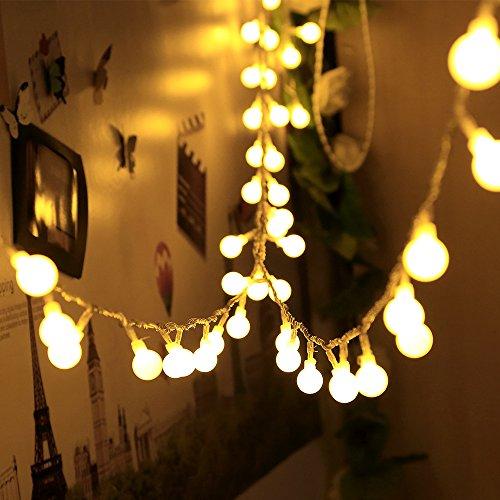 infinitoo LED Globe Lichterkette, 10M 100 LEDS Glühbirne Lichterkette Wasserdicht mit 8 Modi, Innen- Außen Beleuchtung für Weihnachten, Party, Garten, Balkon, Zimmer Deko [Energieklasse A++]