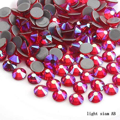 PENVEAT SS6, SS30 Multi-Farbe Crystal AB Hot Fix Kristall Strass Super-Stoff Glitzer-Strass-Eisen auf Rhinestones für Nagel-Kunst-Kleidung, Licht siam AB, SS30-288pcs
