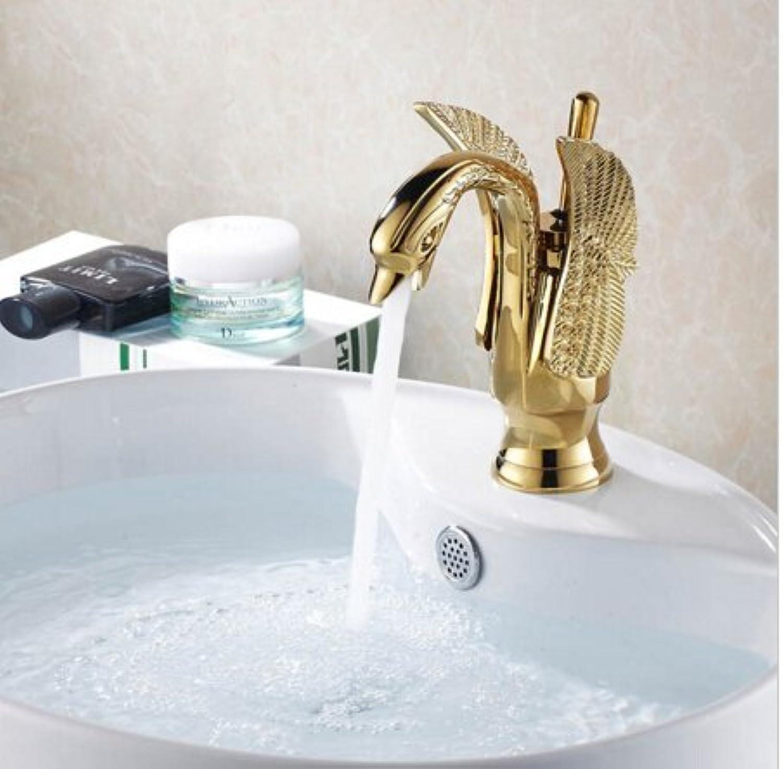 Maifeini Die Luxurisen Messing Swan Stil Badewanne Armatur Gold Armaturen Waschbecken Mischbatterie Bad Tippen
