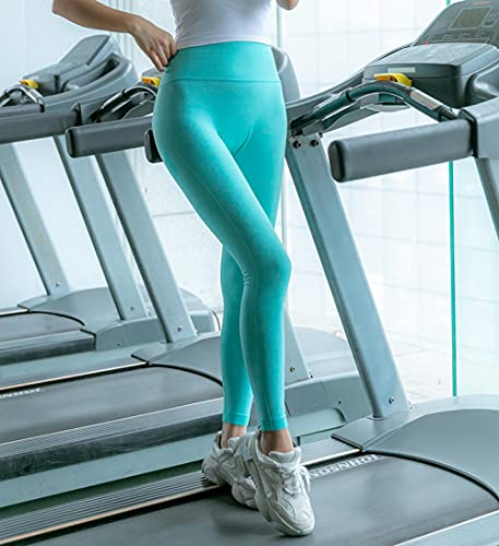 Leggings Mallas para Running Training,Pantalones de Fitness Transpirables rápidos, Entrenamiento Corriendo Pantalones de Yoga-Azul_M,Running Training Mallas para