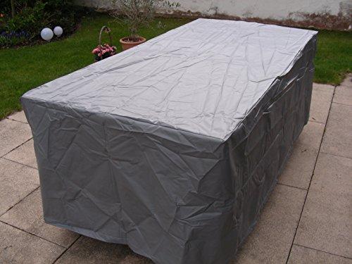 housse de protection pour table de jardin gris rectangulaire pour la taille de la table 200x100x66
