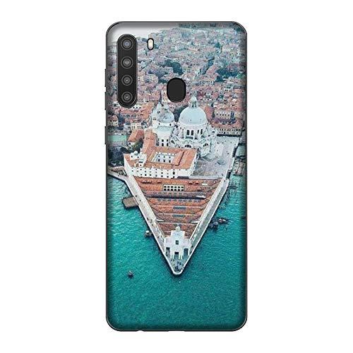 Funda Galaxy A21 Carcasa Compatible con Samsung Galaxy A21 Ciudades Italianas Venecia/Imprimir también en los Lados. / Teléfono Hard Snap en Antideslizante Antideslizante Anti-Rayado Resistente a