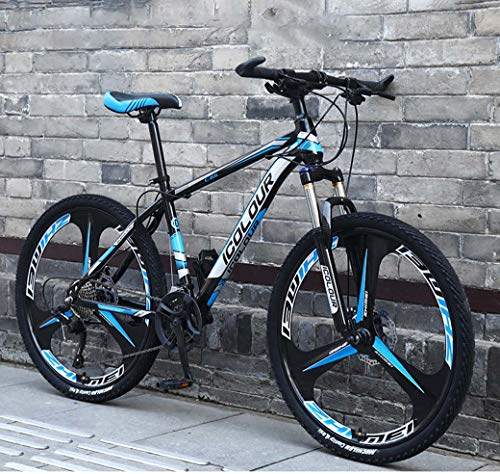 "ZTYD 26"" 24-Speed Mountain Bike for Adult, Lightweight Aluminum Full Suspension Frame, Suspension Fork, Disc Brake,B2,30Speed"