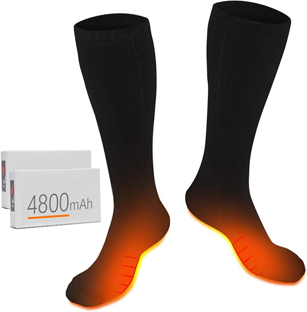 New Free Shipping Heated Socks for Max 61% OFF Men Women Electric Rechargeable Sock Upgraded -