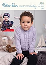Peter Pan Baby Sweater & Hat Crochet Pattern 1215 DK