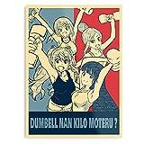 Kilo Manga Moteru Ever 2020 Best Dumbbell Anime Funny Meme Muscle Nan Otaku The Best and Style Home Decor Wall Art Print Poster Customize