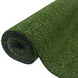 Nishore Gazon Artificiel 1,5 x 10 m (l x L) Vert Pelouse Herbe Synthétique Hauteur du Gazon 7-9 mm