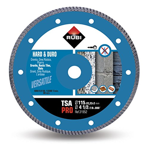 Rubi 31952 Disco Diamante Material Duro Turbo (TSA) 115mm Pro, Gris, 115 mm