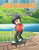 Skateboard Coloring Book: Skateboarding Art, Skate Designs 40+ Unique Pages to Color at home . Vol-1